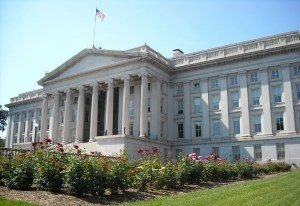 Avian Averting System client installation picture US Treasury Building in Washington DC